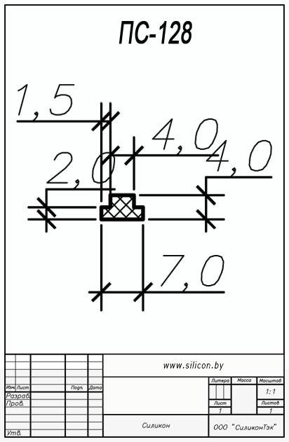Профиль силиконовый ПС-128