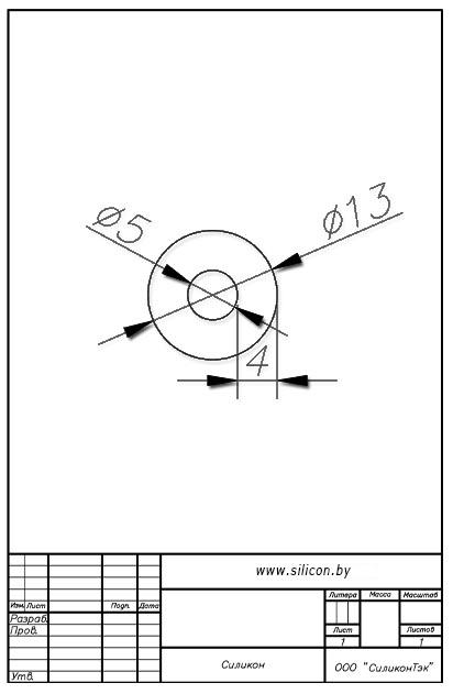 Трубка силиконовая ø13х5х4