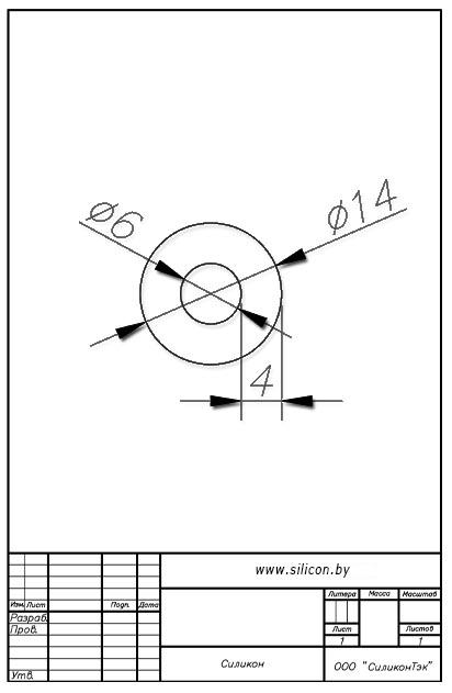 Трубка силиконовая ø14х6х4