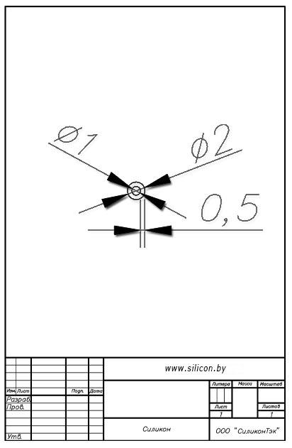 Трубка силиконовая ø02х1х0,5