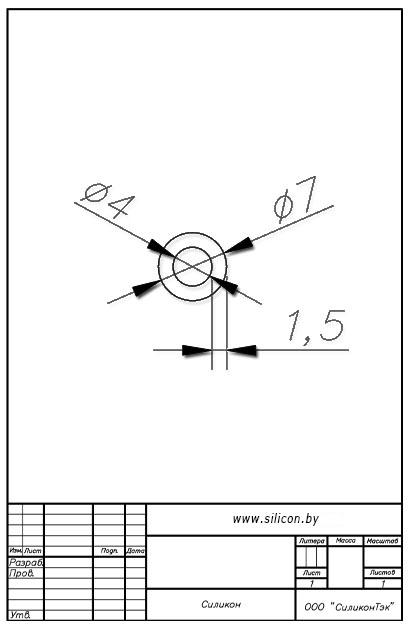 Трубка силиконовая ø07х4х1,5